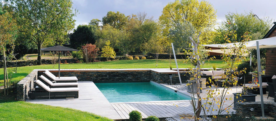 R alisation de bassins d agr ment et de piscines for Bassin piscine naturelle
